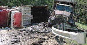 Frack waste truck spill, WV
